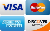 visa, mc, discover, amex-accepted for bail bonds